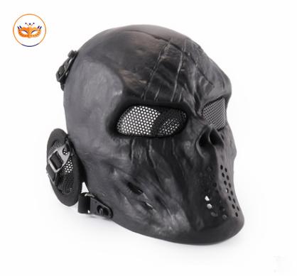 Black Skull Skeleton Mask Gear For CS Game Party