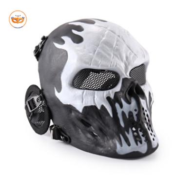 White Blue Skull Skeleton Mask Gear For CS Game Party