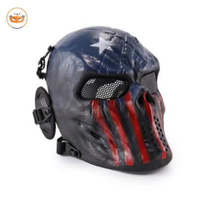 Red Blue Skull Skeleton Mask Gear For CS Game Party