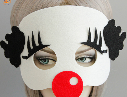 Halloween Costume Mask Felt Clown Eye Mask For Adult and Child