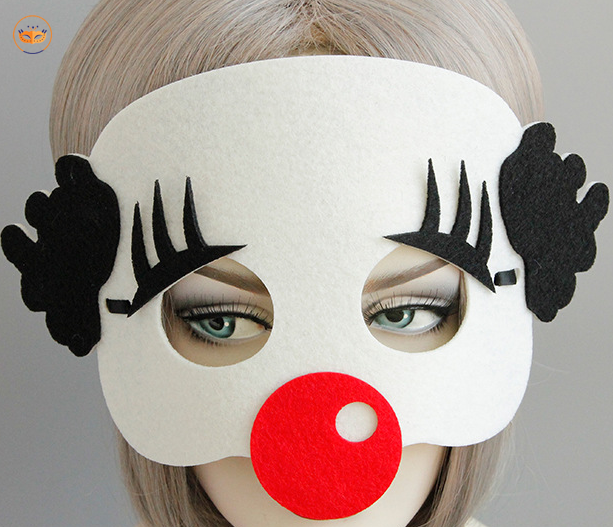 Halloween Clown Eye Mask-Felt Material Mask