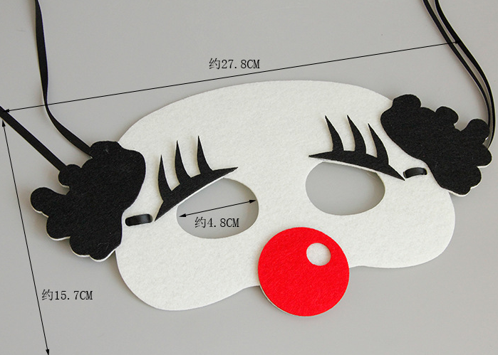 Halloween Clown Eye Mask Size