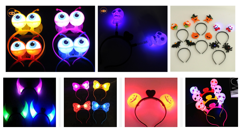 Halloween LED Light Up Flashing Headband