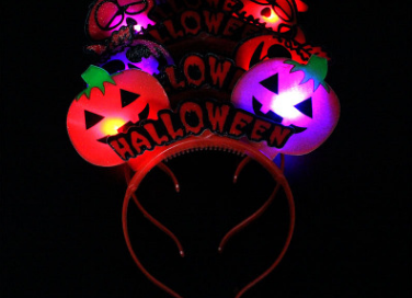 Halloween LED Flashing Pumpkin Skeleton Skull Light Up Headband