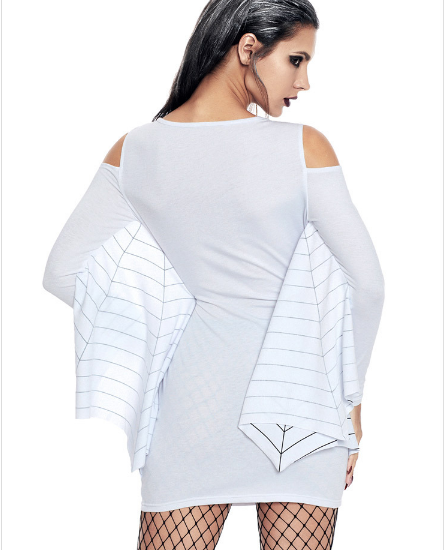 White Women's Spider Web Dress