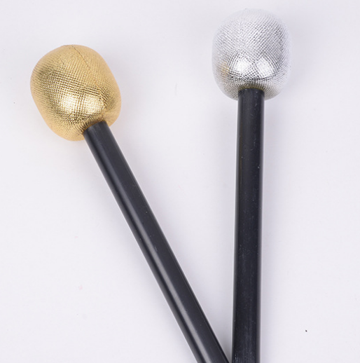 Silver and Gold Microphone
