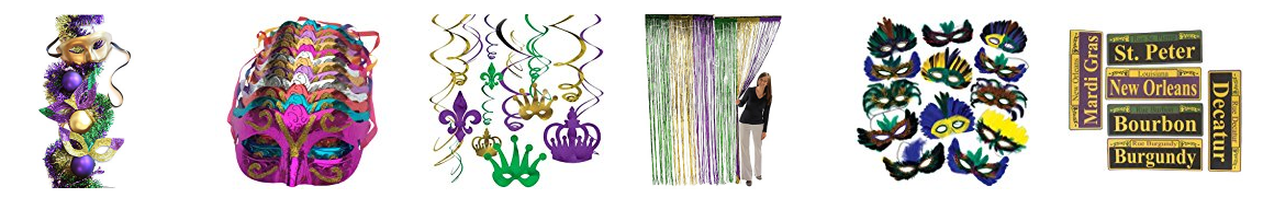 Mardi Gras Garlands in New Orland, Mmask, Feather Mask