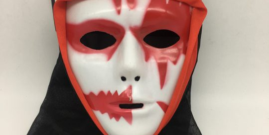Bloody Mask W Black Veil