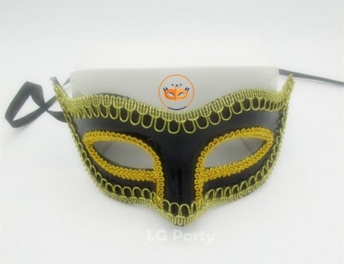 Masquerade Mask Venetian Mask Gold Lace Shiny Mask For Men