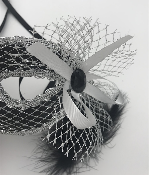 Silver Net Eye Mask Decoration