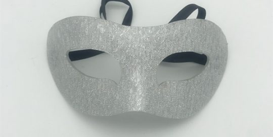 Silver Acrylic Mask For Christmas Party Ball