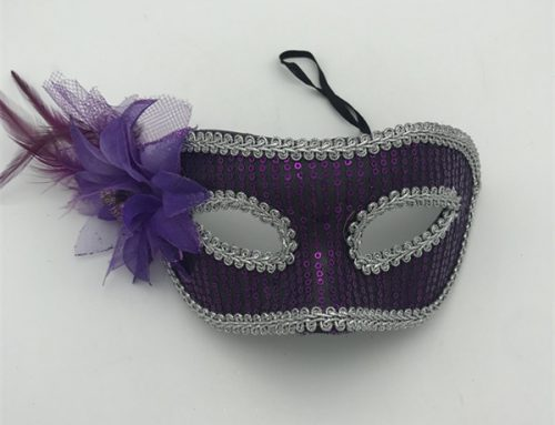 Fantastic Venetian Masks For Women's Sequin Eye Mask W Flower