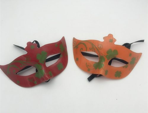 St. Patrick Shamrock Half Face Eye Mask Acrylic Print Mask