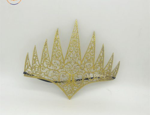 Gold Die Cut Royal Crown Masquerade Ball Novelty For Leg Avenue