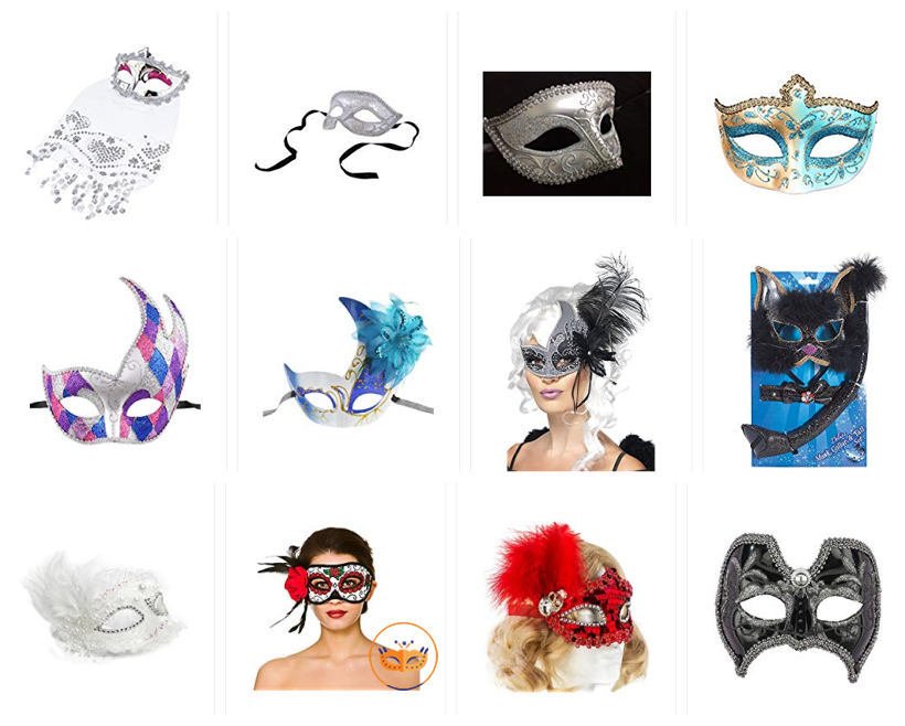 Masquerade Party Masks at legopartycraft.com