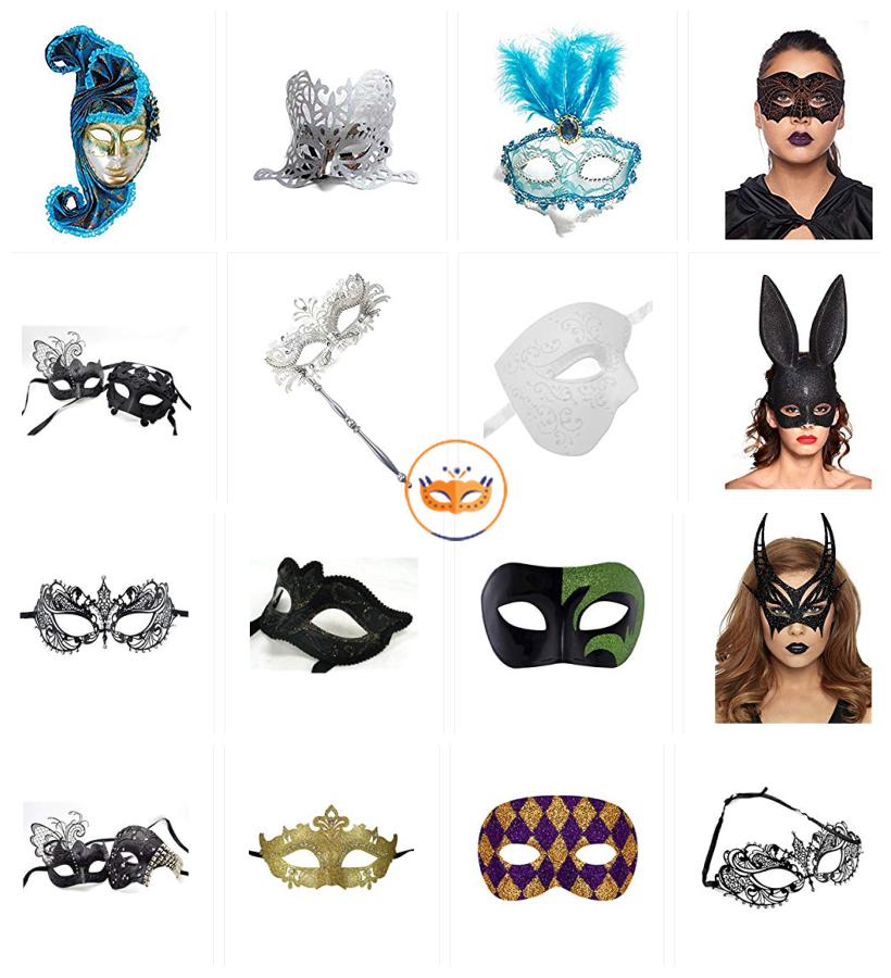 Masquerade Party Masks at legopartycraft.co