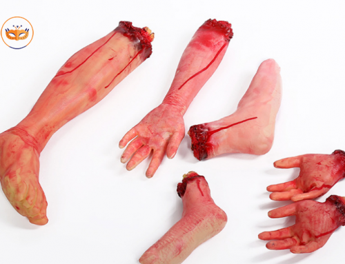 Bloody Hands Feet Prank Props Broken Body Part For Halloween
