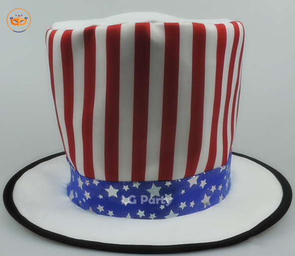 USA Flag Hat Patriotic Top Hat