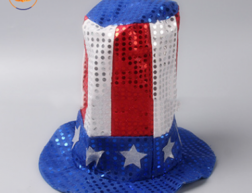 Fourth 4th of July USA Flag Independence Day Uncle Sam Top Sequin Hat
