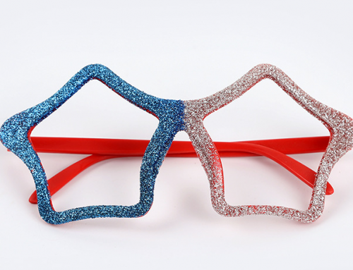 Independent Day Patriotic USA American Blue Red Glitter Eye Glasses