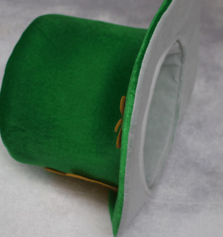 Green lucky velvet fashion st patricks day hat