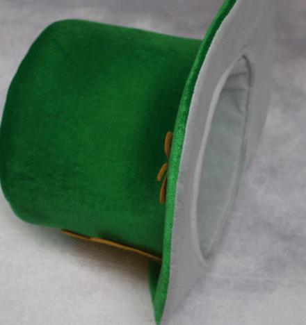 Green lucky velvet fashion st patricks day hat