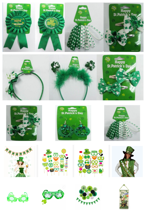 St. Patrick Shamrock Costume Dress Accessories