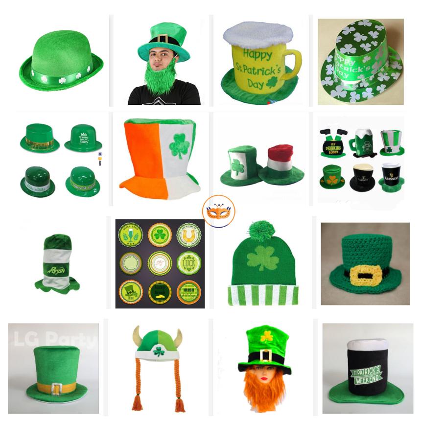 Party Decoration Handmade Irish Hat St Patric Day Green Shamrock Top Hat