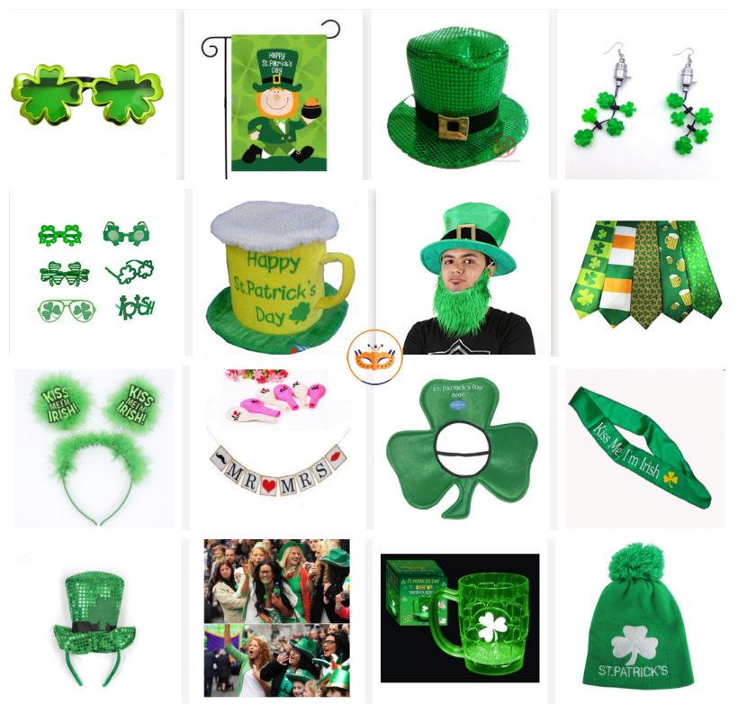 St.Patrick Supplies Shamrock Party Favors