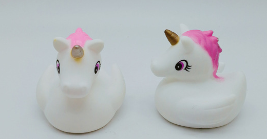 3 Packs Assorted Unicorn Bath Toy W LED Color Changing Bath Duck