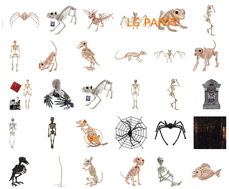 Halloween House Deco Crazy Bonez Skeleton Spider Skeleton Rat
