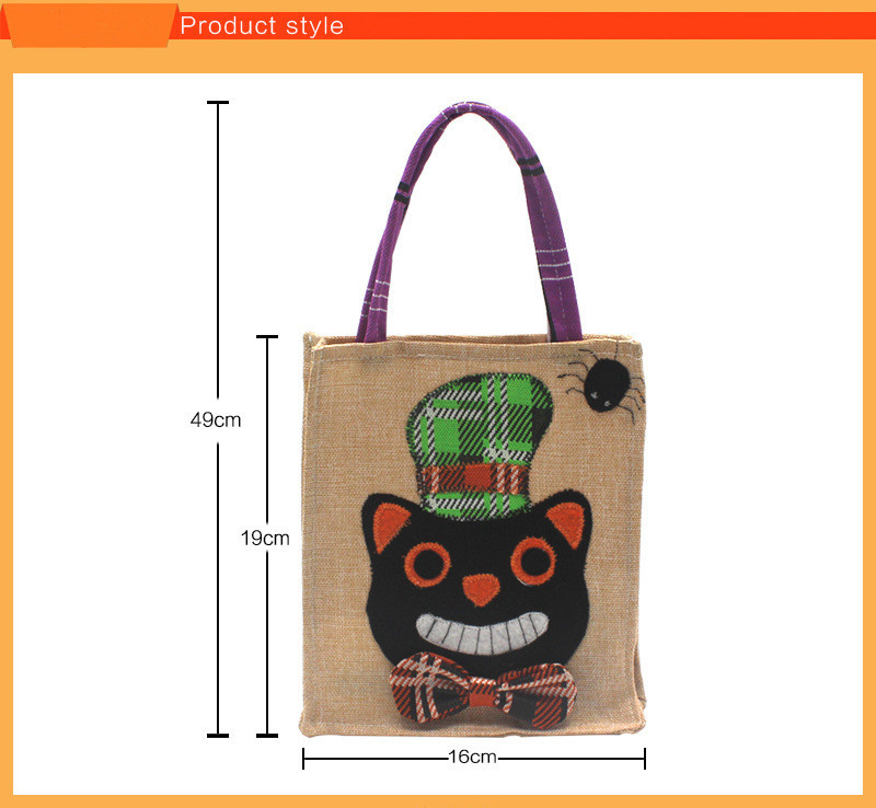 Halloween Cat Candy Bag Tote Bag