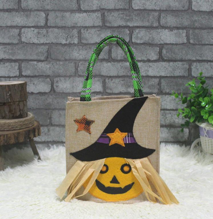 Halloween Pumpkin Candy Bag Tote Bag