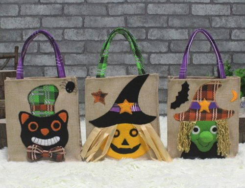 3 Assortment Halloween Holiday Trick-or-Treat Tote Bag Candy Tote Bag Woven Bag