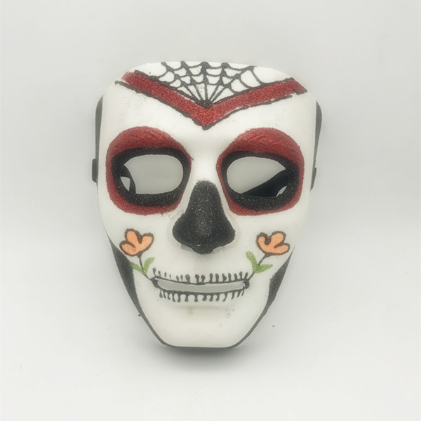 Black White Red Glitter Sugar Skull Full Face Masks