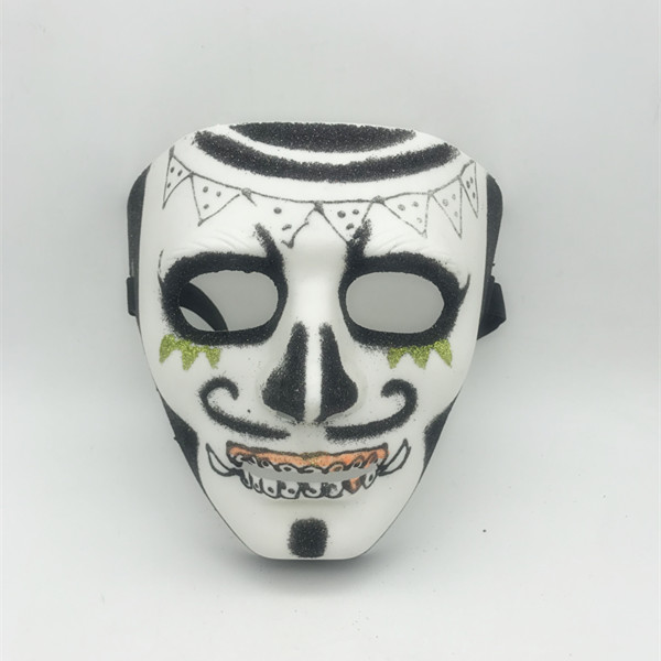 Black White Glitter Sugar Skull Full Face Masks