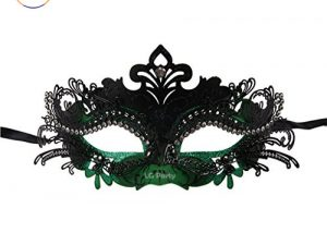 Masquerade Mask Laser Cut Shiny Rhinestone Mask