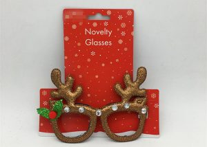 Novelty Christmas Glasses Reindeer Eyeglass Frame Costume Accessory