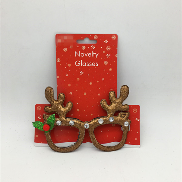 Novelty Christmas Glasses Reindeer Eyeglass Frame Costume Accessory