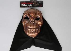 Metalic Skull Mask Halloween Mask W Black Veil
