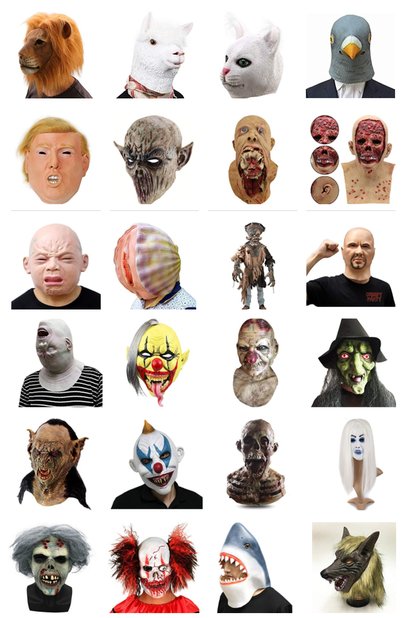 Halloween Latex Masks Spooky Masks