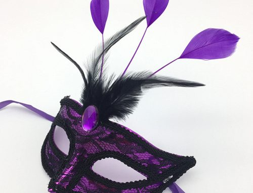 Mardi Gras Carnival Mask New Orlean Assorted Feather Lace Mask