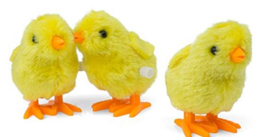 Wind-Up Novelty Jumping Chicken Easter Egg