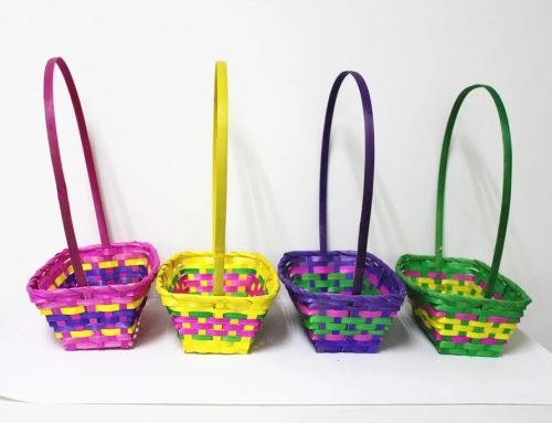 Amscan Wholesale Bamboo Easter Egg Basket Straw Basket