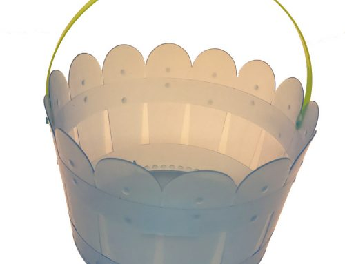 Plastic Easter Eggs Basket Bunny Candy Basket For Easter Party