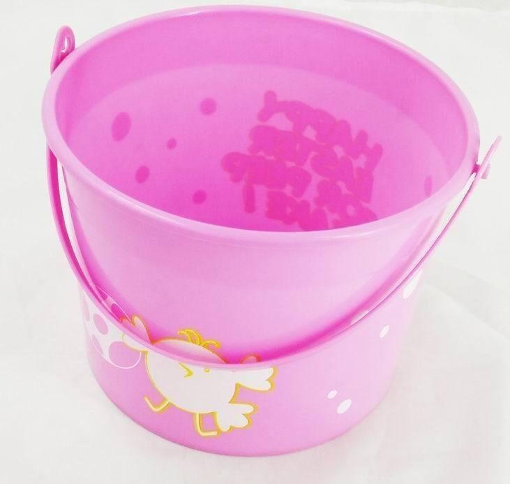 Chicken Easter Eggs Basket Plastic Bucket Pink