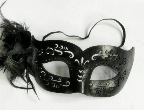 Black Steampunk Eyemask Half Face Venetian Masquerade Mask