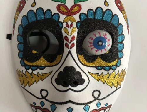 Day of The Dead Adult Full Face Mask Mexican Sugar Skull Glitter Mask