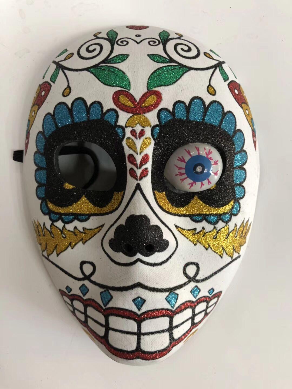 Mexican Sugar Skull Glitter Mask With Eyeball