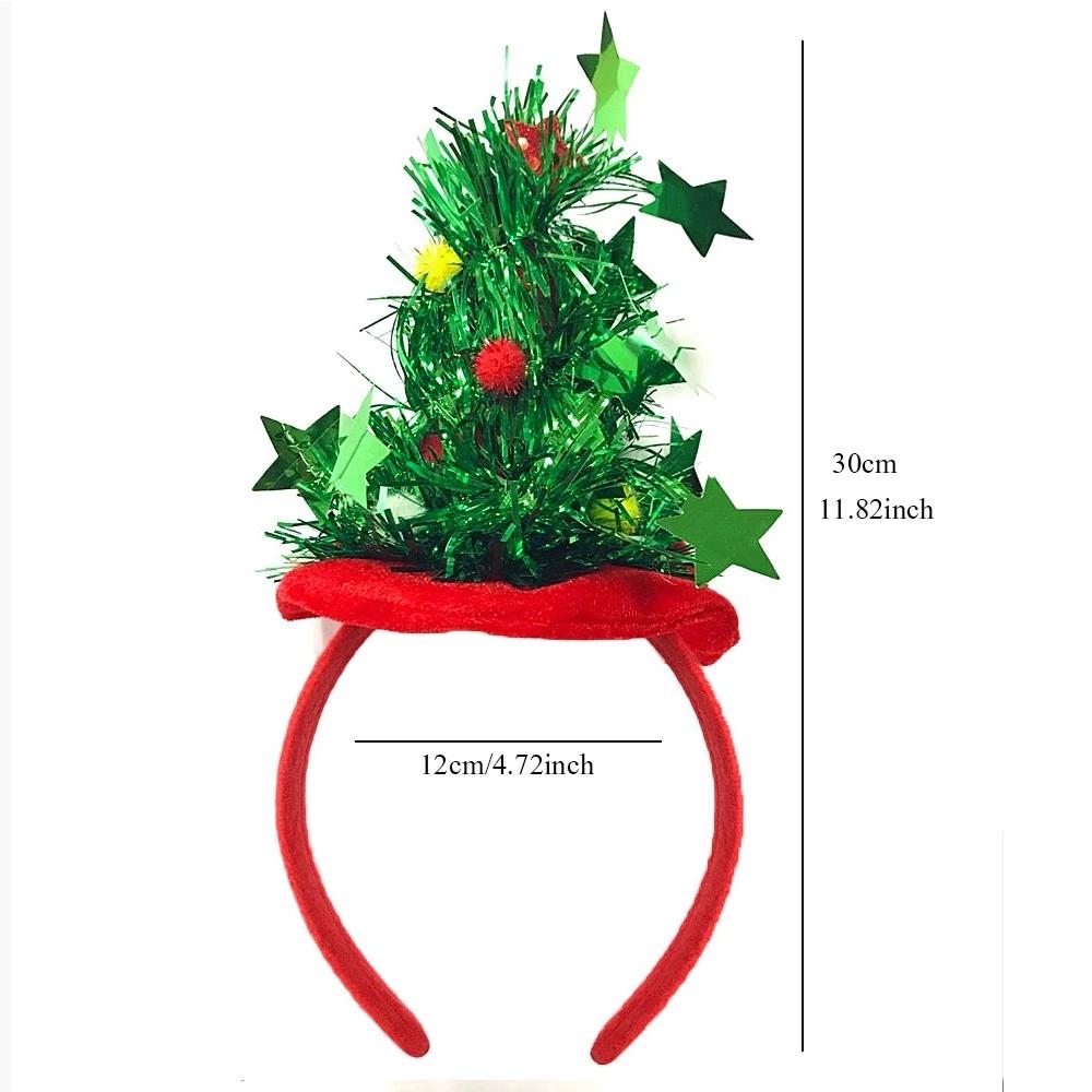 Christmas Tress Metallic Headbands Costume Hair